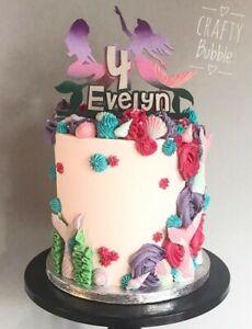 HAND-MADE-WOODEN-PERSONALISED-MERMAID-CAKE-TOPPER-BIRTHDAY