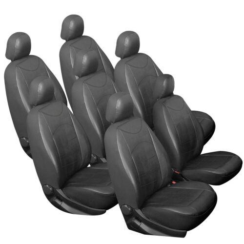 7 X Voiture Sitzbezüge Unique Référence Pour Voiture//Van sans pages Airbag Noir 7235-7