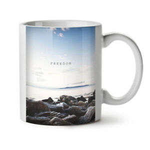 Freedom Sea Life Nature NEW White Tea Coffee Mug 11 oz | Wellcoda