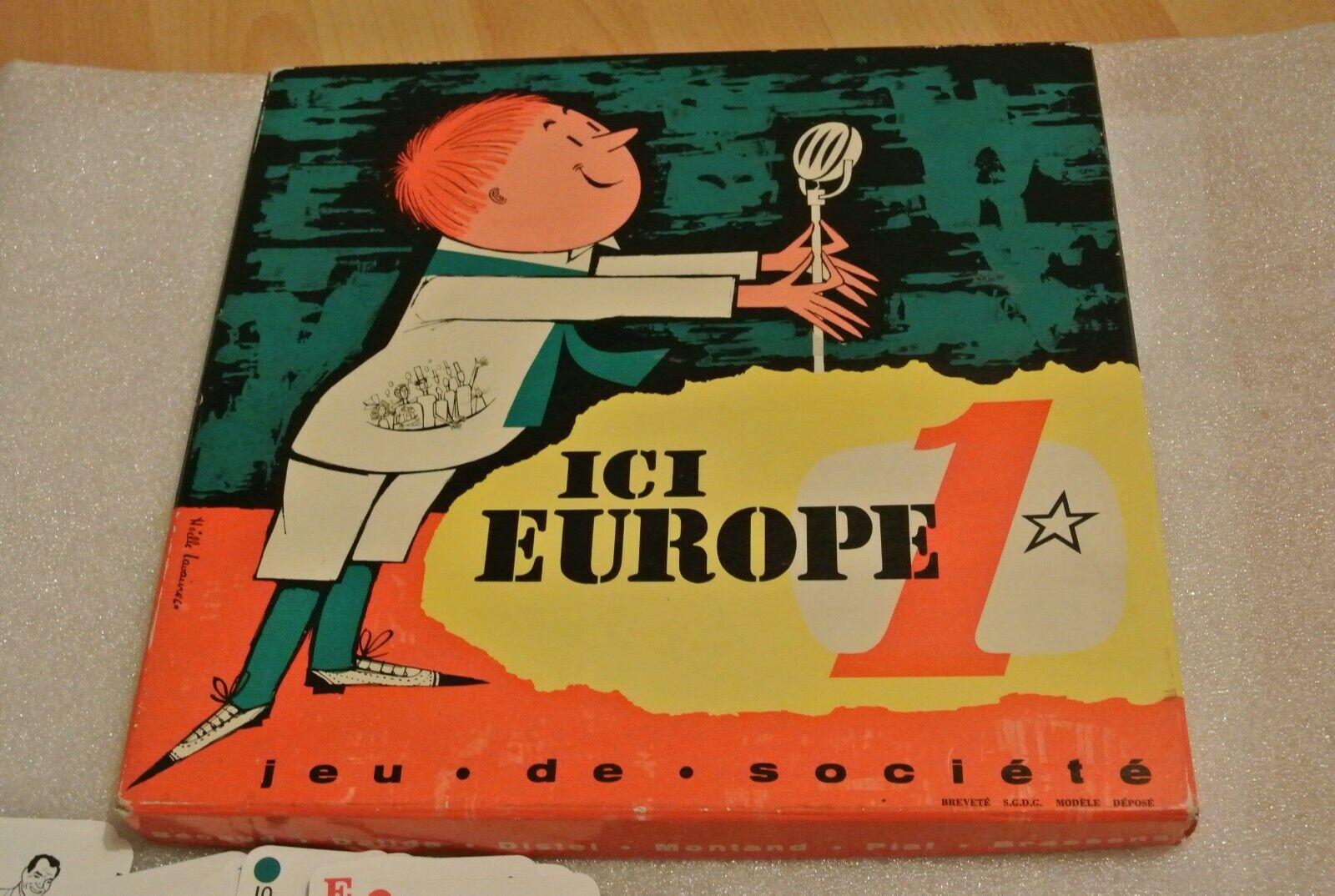 Ici Europe 1 - Jeu de société des célébrités , (Type Salut les Copains,1960)