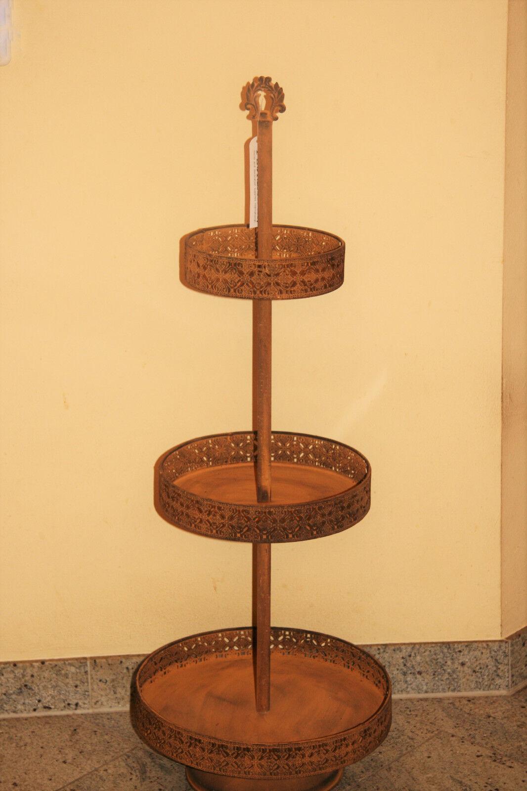 95 cm Etagere Etagerie Servierplatte Bonboniere Bonboniere Bonboniere Schale Metall Braun Rost     | Quality First  07ebd2