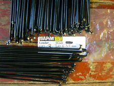 Pack of Four Sapim Leader Spokes BLACK Nipples Plain Gauge 2.0mm//14g
