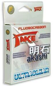 NEU-Take-Akashi-Fluorocarbon-Japan-Schnur-ultraclear-50-100-225m-Auswahl-Vorfach