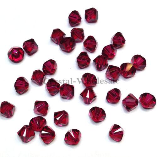 3 mm RUBY Véritable Cristal Swarovski 5328 Xilion loose Bobine biconique Perles 501