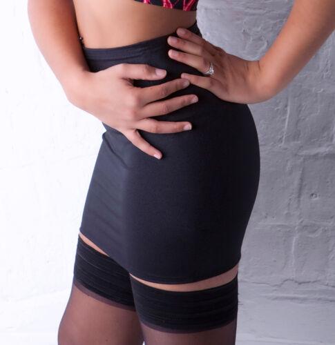 Mini Skirt Black Satin Lycra Stretch Party Club Womens Bodycon Short Ladies XS1