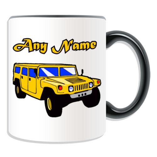 Cadeau personnalisé HUMMER Mug argent boîte JEEP SUV H1 H2 H3 hx humvee HMMWV tea cup
