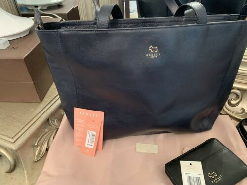 Radley London Large Navy Leather Tote
