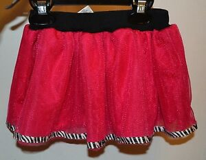 Spencer's Baby Pink Tutu Skirt With Zebra Print Trim 0-6mon 6-12 Mon Or 12-18mon Moderate Price Baby & Toddler Clothing