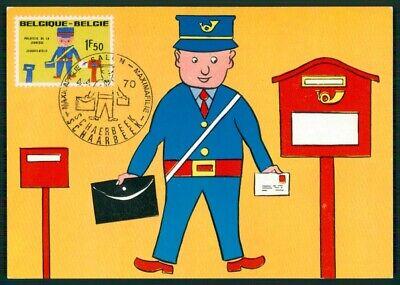 Europa Belgien Mk 1970 Jugendphilatelie Postbote Maximumkarte Maximum Card Mc Cm Ef72 100% Garantie