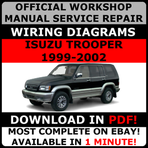 OFFICIAL WORKSHOP Service Repair MANUAL ISUZU TROOPER 1999
