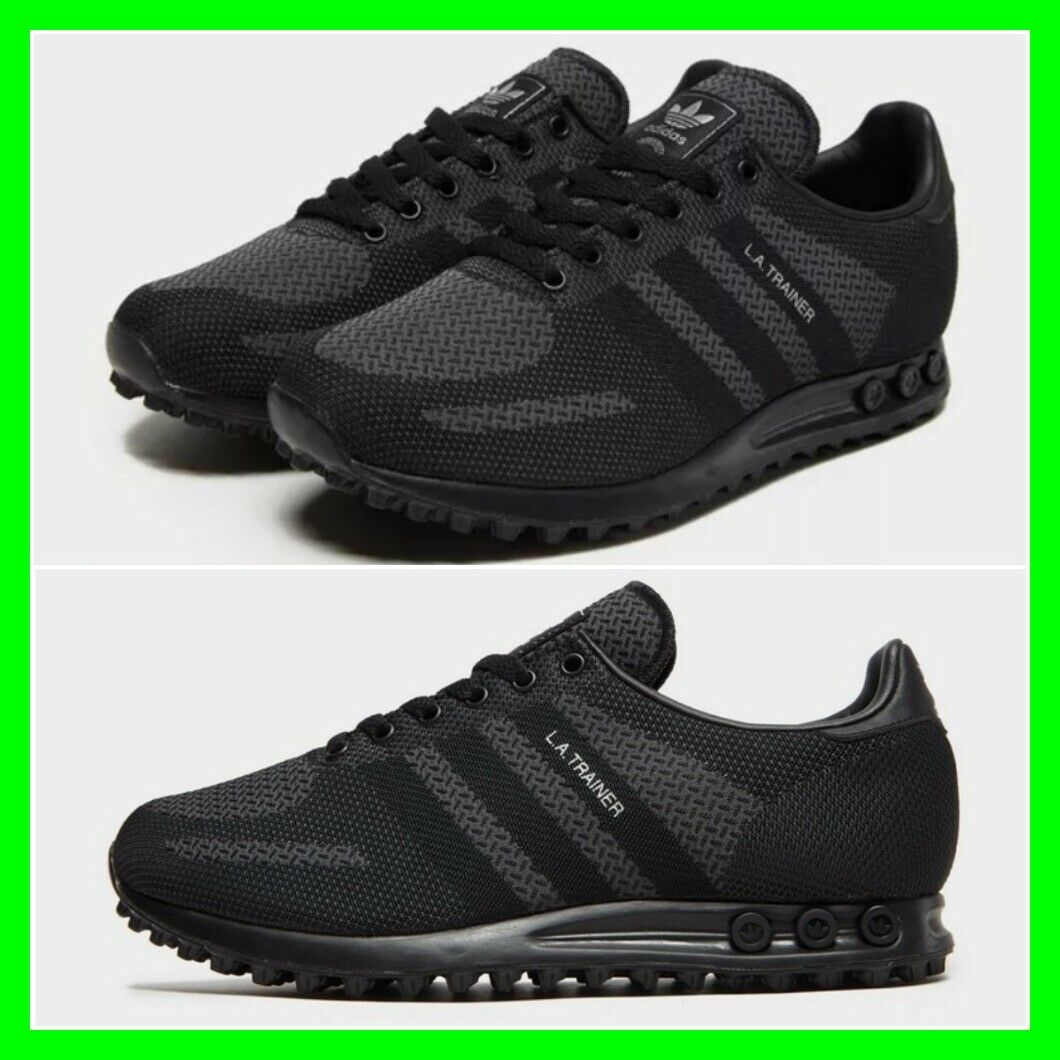 Adidas LA Trainer Black Charcoal Mens Woven Trainers All Sizes Limited Edition