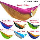 Portable Travel Camping Garden Parachute Nylon Hammock Outdoor Hanging Swing Bed