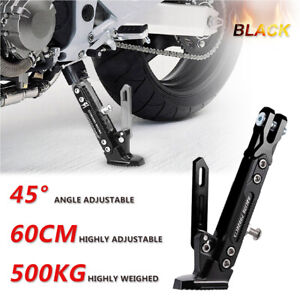 Universal-Aluminum-Alloy-Motorcycle-CNC-Scooter-stand-Side-Stand-Kick
