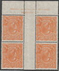 Stamp KGV 1/2d orange small multiple watermark perf 14 inverted Mullett imprint