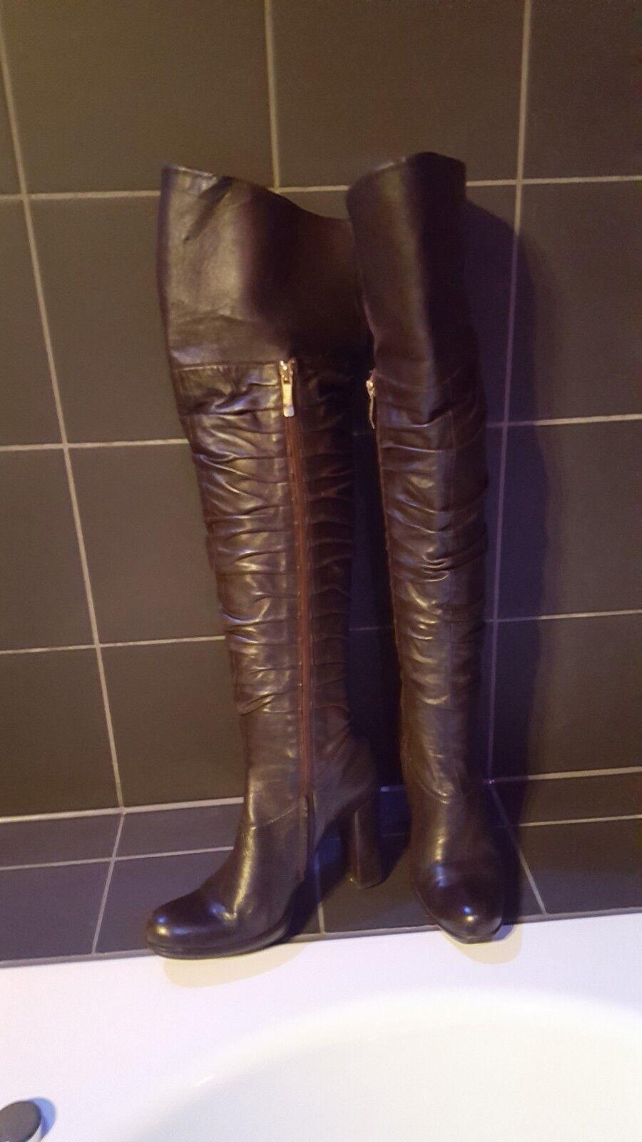 Overknee Stiefel Echt Leder R & Renzi Gr. 38