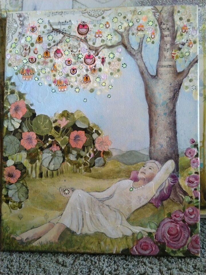 Akrylmaleri, Lise Meijer, motiv: Religiøs/Spirituel