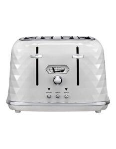NEW-Delonghi-Brilliante-Exclusive-4-Slice-Toaster-White-CTJX4003W