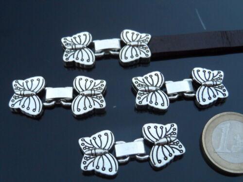 10 x 2 mm abalorios De 3 a 100 Cierres Zamak mariposas ¡OFERTA 2x1 CP-22