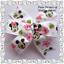 Bow Clips Or Bobble Pink /& Green Mickey /& Minnie Mouse Springtime Hair Bows