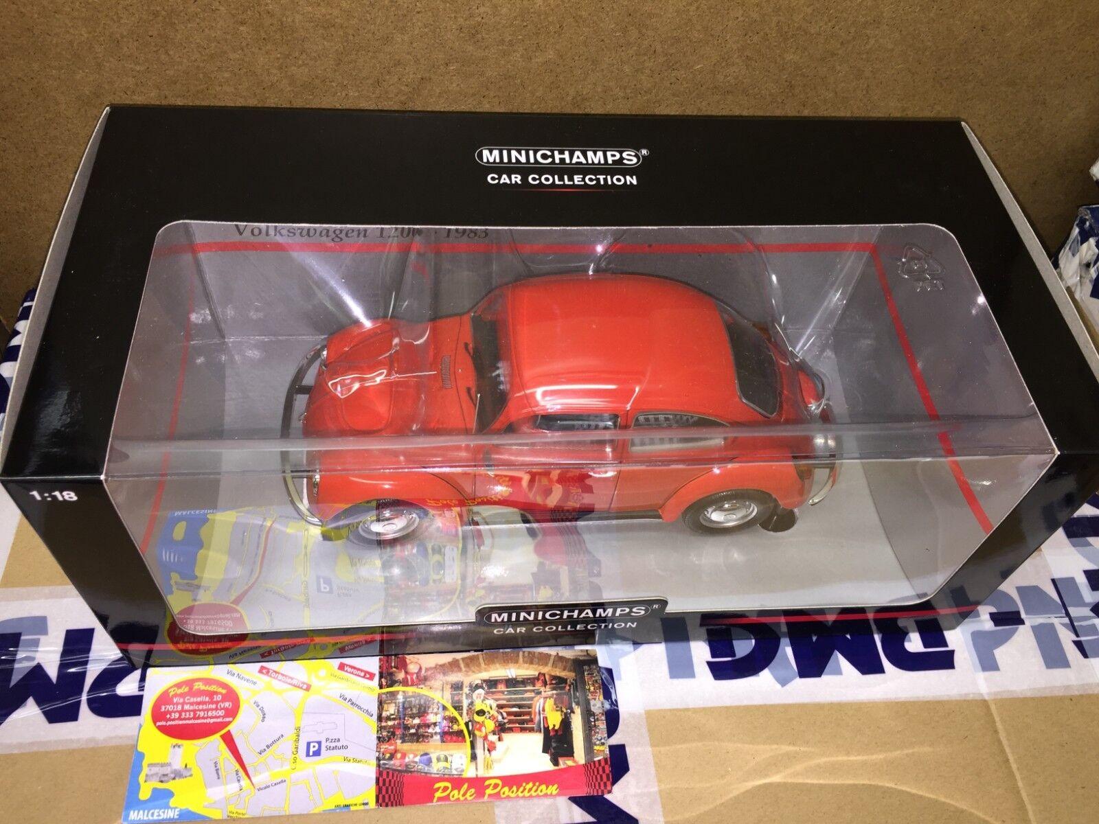 150057100 MINICHAMPS 1 18 VOLKSWAGEN 1200 RED 1983 NEW FREE SHIPPING WORLDWIDE
