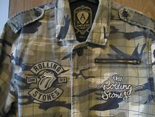 AMPLIFIED ROLLING STONES  Rare Army Camo Lined  Jacket  small AS NEW