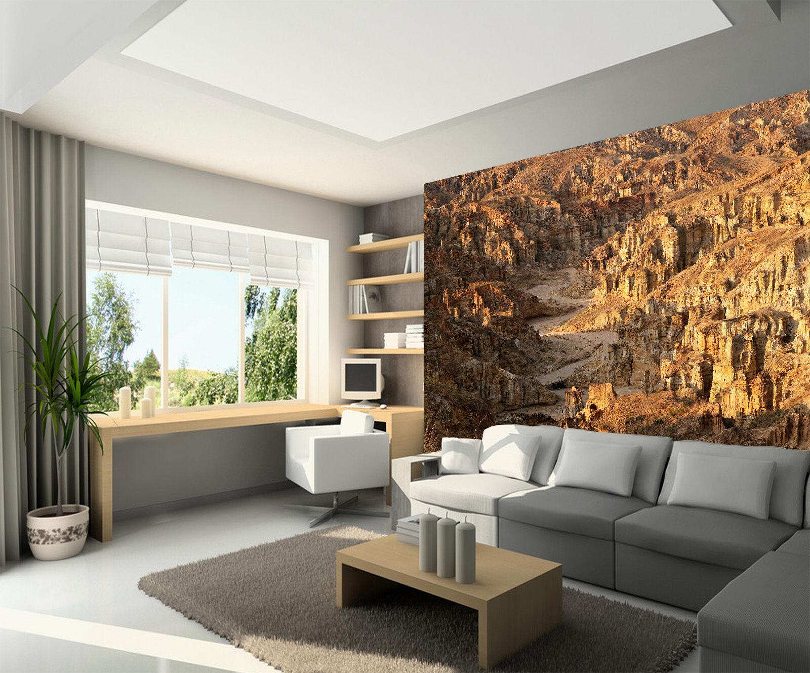 3D Forêt De De De Pierre Photo Papier Peint en Autocollant Murale Plafond Chambre Art cc7782