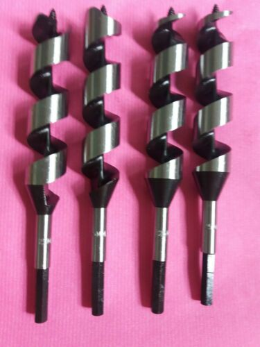 25 x 200mm HEX shank auger wood//timber fast cut out drill bits **** NEW 4-piece