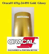 24 X 10 Ft Roll Gold Glossy Oracal 651 Vinyl Adhesive Cutter Plotter Sign 091