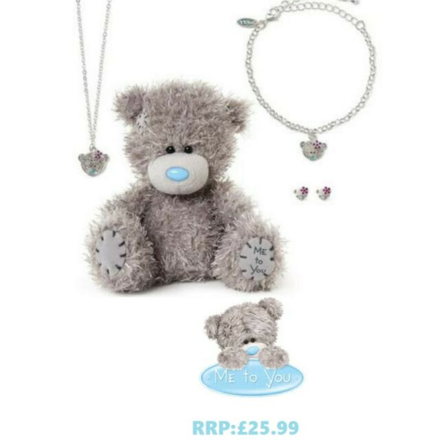 JEWELLERY ME TO YOU BEAR TATTY TEDDY NECKLACE /& EARRINGS STAR SET IN GIFT BOX