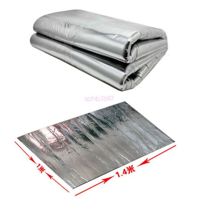 Car Turbo Exhaust Heat Shield Muffler Hood Insulation Fiberglass Cotton Wrap Mat