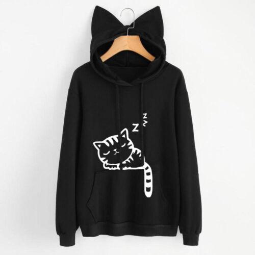 Japanese Mori Girl Kawaii Sweet Lolita Cat Ears Loose Sweatshirt Hoodie Coat Top
