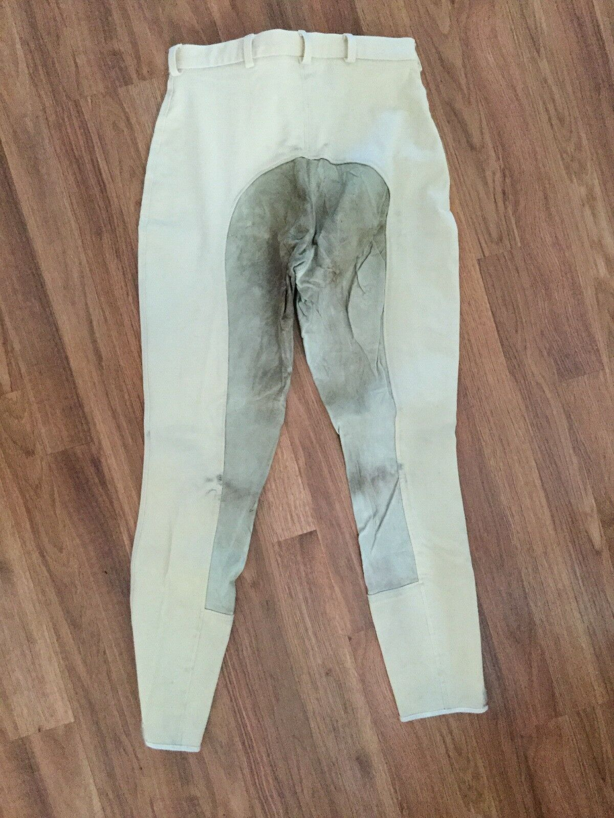 Size 28 Regular Dublin Cream colord REAL LEATHER Fullseat Breeches