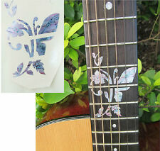 Guitar Inlay Stickers Butterfly & Flower Decals