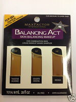 Max Factor Balancing Act Liquid Makeup Shade Sampler For Medium To Dark Skin.