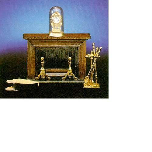 Dollhouse Miniatures 1:12 Scale Elegant Fireplace with Accessories #CLA72400