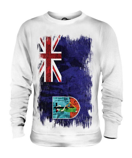 MONTSERRAT GRUNGE FLAG UNISEX SWEATER TOP MONTSERRATIAN SHIRT CLOTHING GIFT