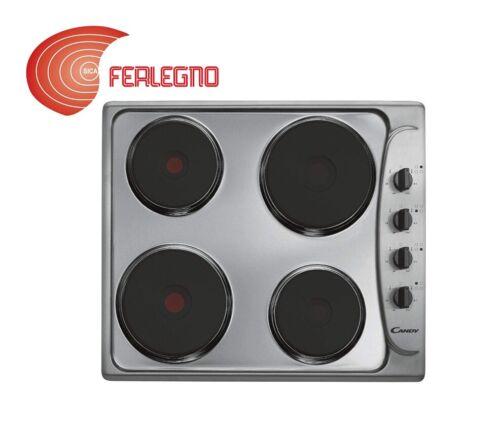 PIANO COTTURA ELETTRICO 60CM 4 PIASTRE INOX COMANDI LATERALI ART.PLE64X CANDY