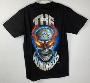 NEW THE HUNDREDS X WWE BLACK SHIRT TEE STONE COLD 316 WWF WRESTLING VTG RARE M