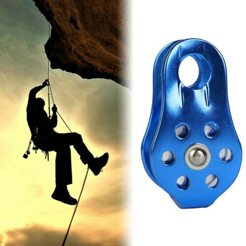 Hiking Climbing Rope Pulley Single Fixed Pulley Mountaineering Rope Climbing New