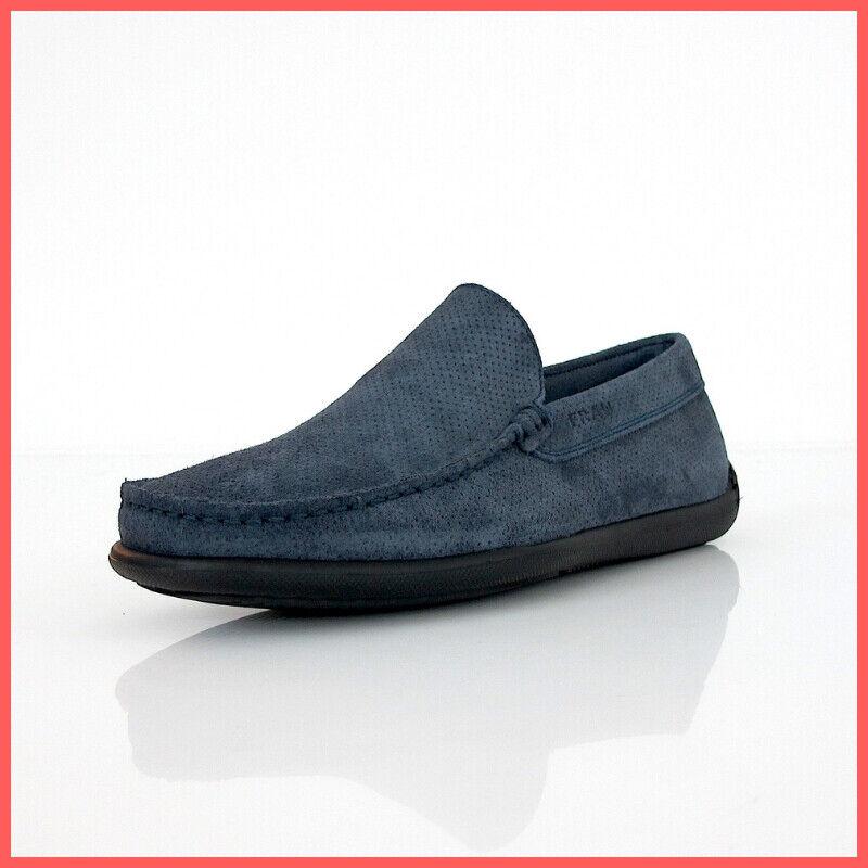 FRAU chaussures homme mocassins 14J4 89 CASTOR PUNZ couleur bleue JEANS été 2019
