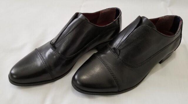 tommy hilfiger black leather shoes