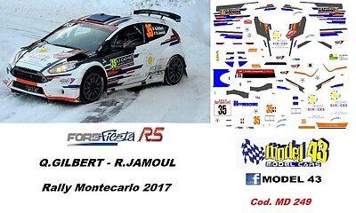 SUNINEN DECAL 1//43 FORD FIESTA R5 Rallye Monte Carlo 2018