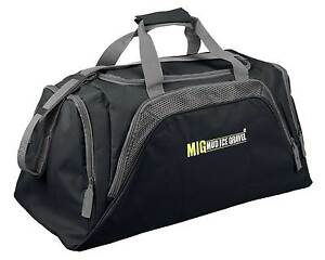 Mens-Large-Black-Sports-amp-Gym-Duffle-Holdall-Bag-SPORTS-TRAVEL-WORK-MIG-26