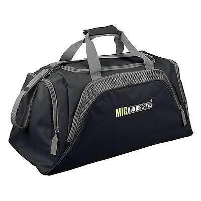Mens Large Black Sports & Gym Duffle Holdall Bag SPORTS TRAVEL WORK / MIG 26