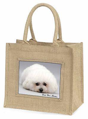 Bichon Frise Hund 'Liebe, die Sie Mama' Große Natürliche Jute-einkaufstasche