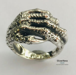 SilverNess-Men-039-s-Jewellery-925-Sterling-Silver-Large-Hand-Ring