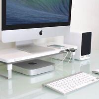 Monitor Laptop Computer Stand Riser Tray Pad Desk Organizer Adjustable Station