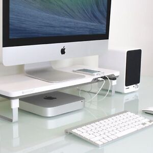 Monitor Laptop Computer Stand Riser Tray Pad Desk Organizer