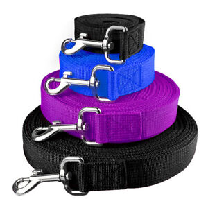 8-16-33-66ft-Long-Dog-Leash-Pet-Training-Recall-Obdience-Nylon-Rope-Durable-Blue