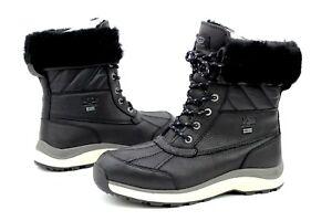 caddd06addf Ugg Adirondack III Quilt Leather Wool Black Color Winter Snow Boots ...